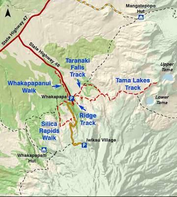 Tongariro Walks Whakapapa Map