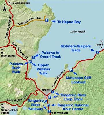Turangi Walking Map